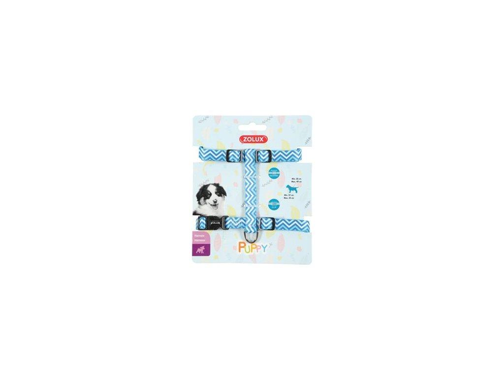 Postroj pes štěně PIXIE nastavitelný modrý 13mm Zolux