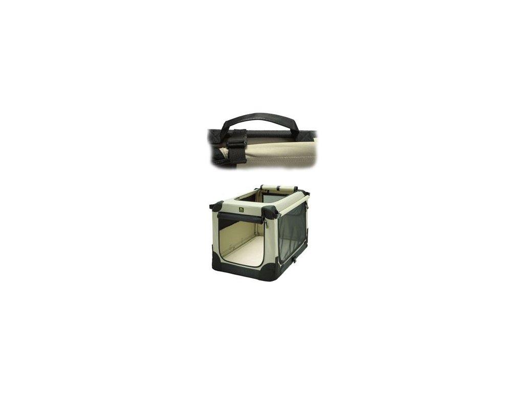 Přepravka MAELSON pro psy nylon Béžová XL/92x64x64cm
