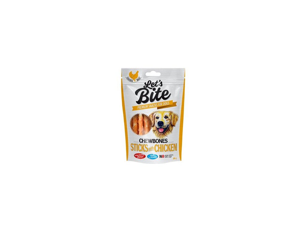 Brit Let's Bite Chewbones Sticks & Chicken 80g