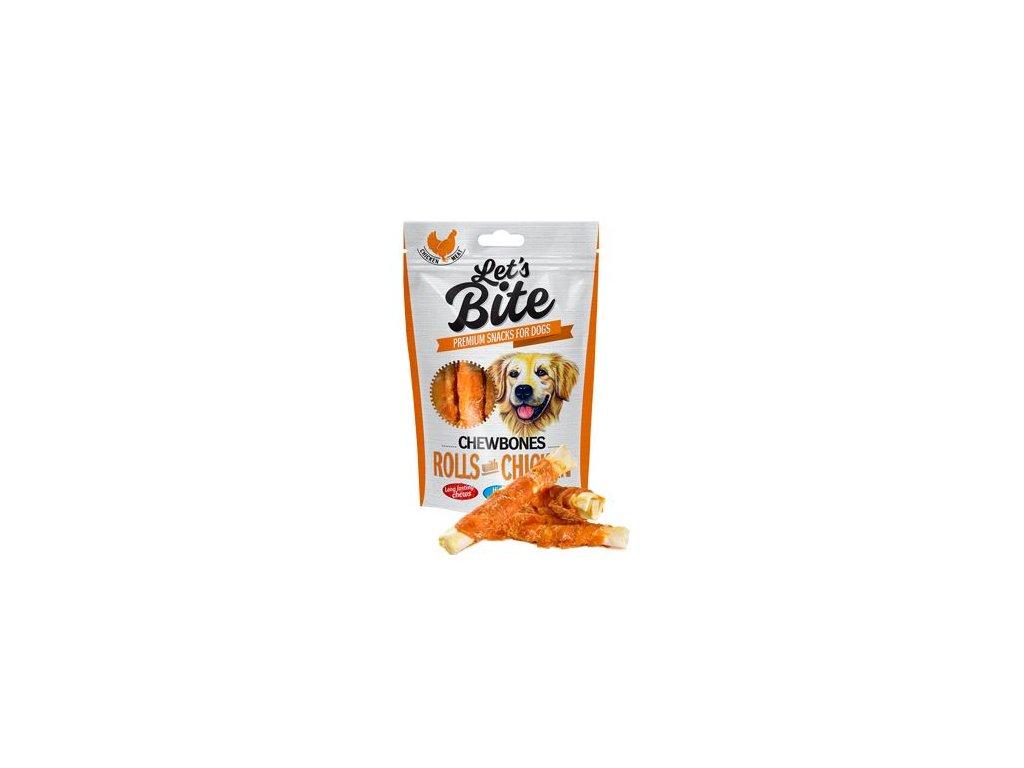 Brit Let's Bite Chewbones Rolls & Chicken 110g