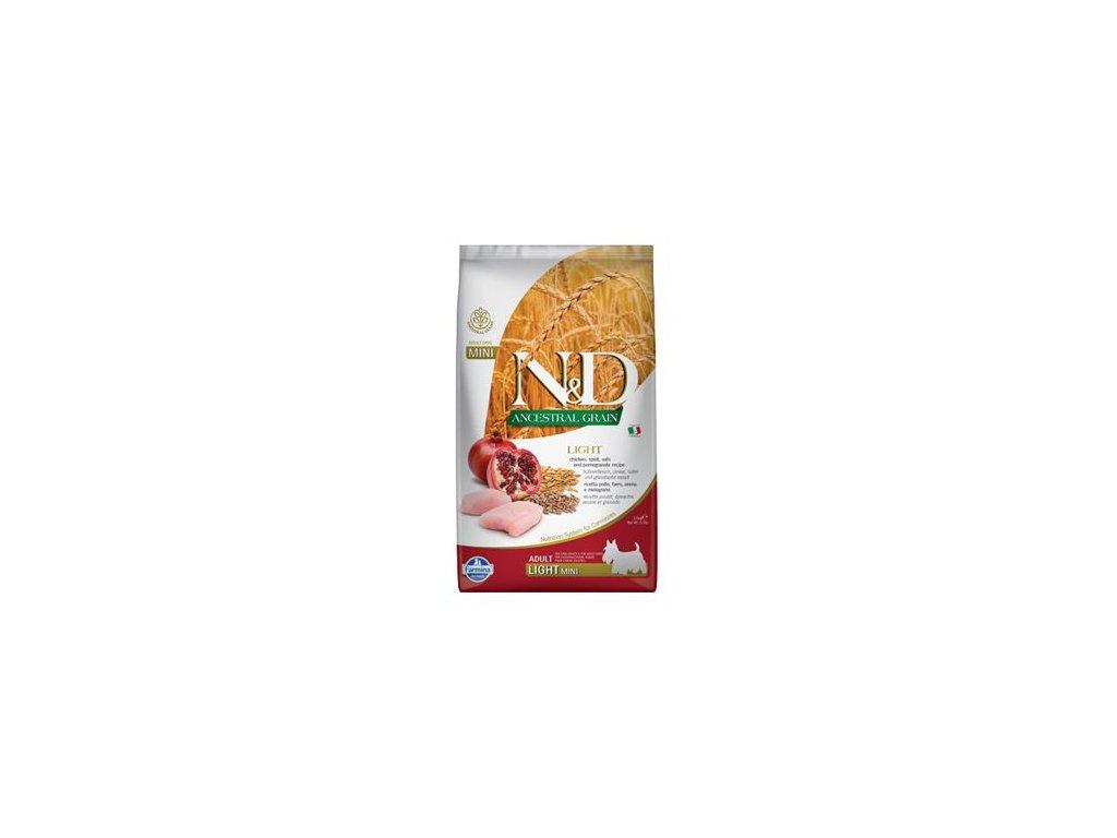 N&D LG DOG Light Mini Chicken & Pomegr 2,5kg