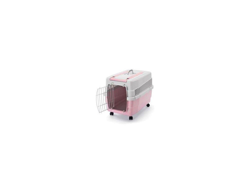 Přepravka IMAC na kolečkách plastová růžová 60x40x45cm