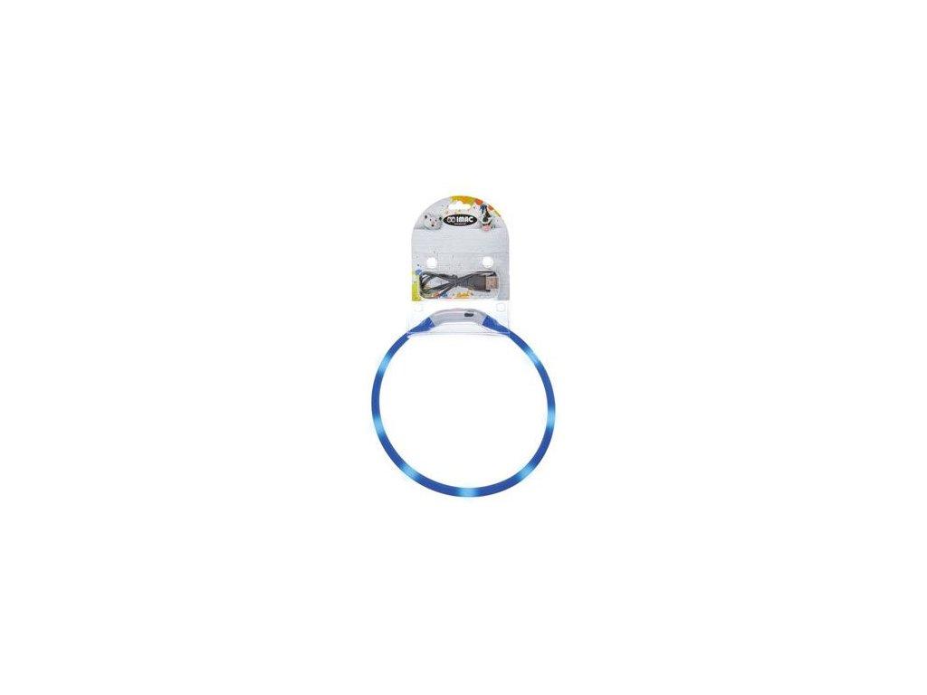 Obojek LED s USB dobíjením 50cm zelený/modrý IMAC