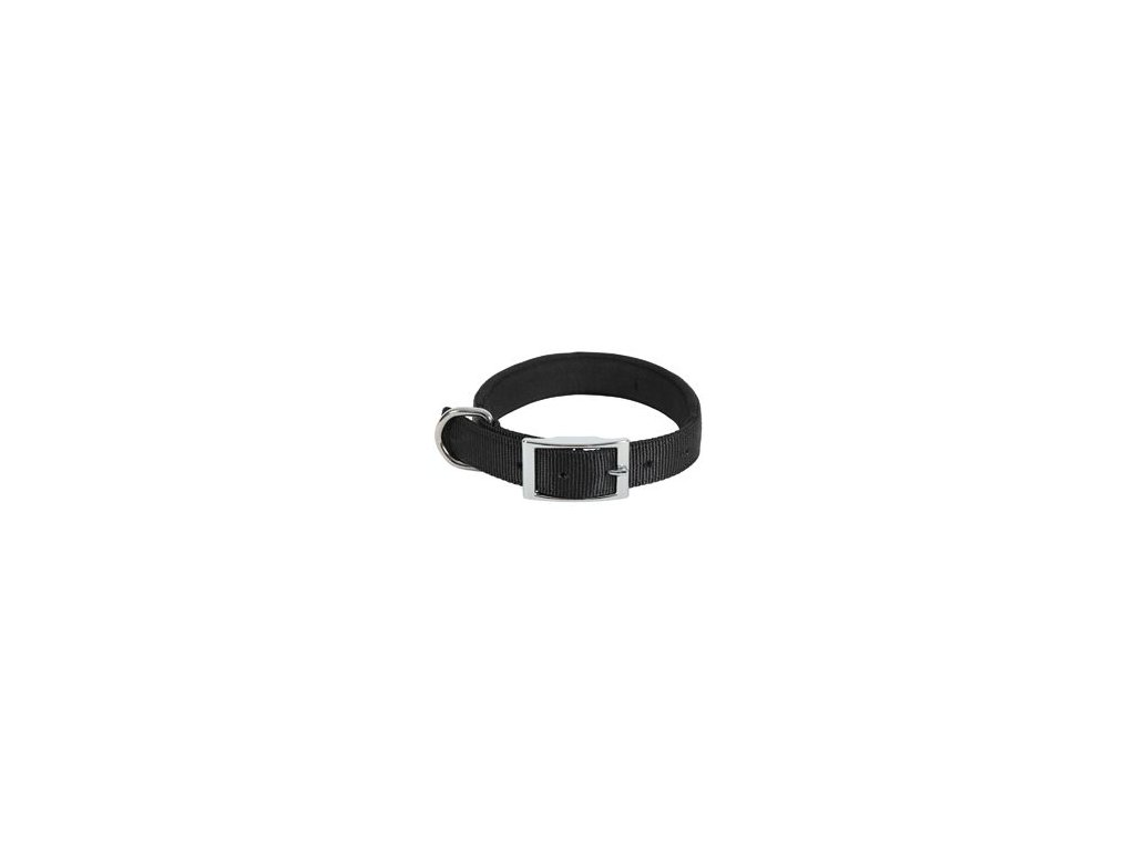Obojek pes SOFT NYLON černý 25mm/65cm Zolux