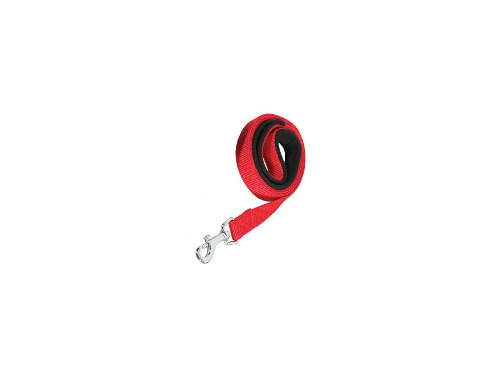 Vodítko pes SOFT NYLON červené 25mm/1m Zolux
