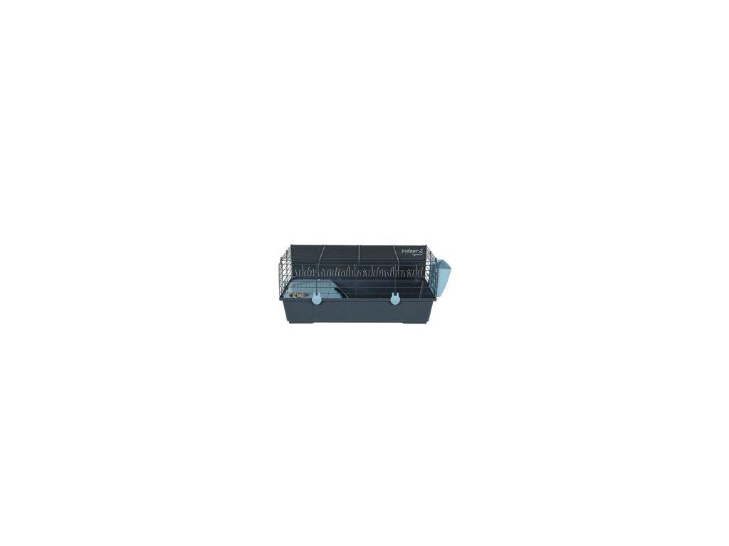 Klec morče INDOOR 2 80cm modrá/šedá s výbavou Zolux