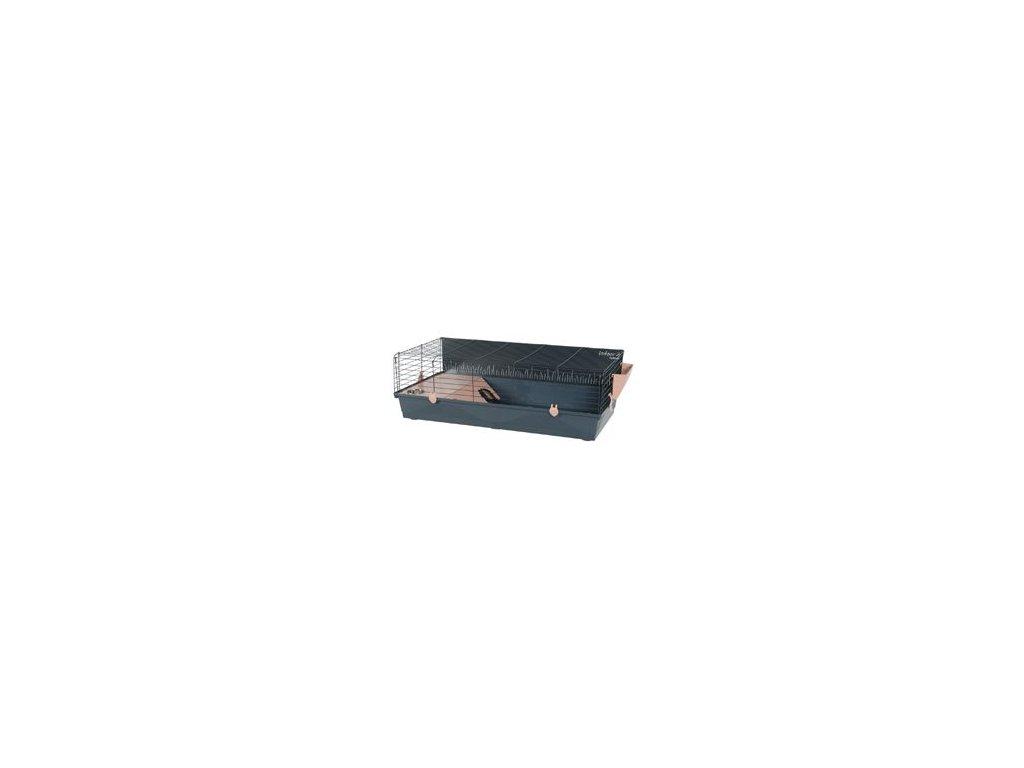 Klec morče INDOOR 2 100cm losos/šedá s výbavou Zolux