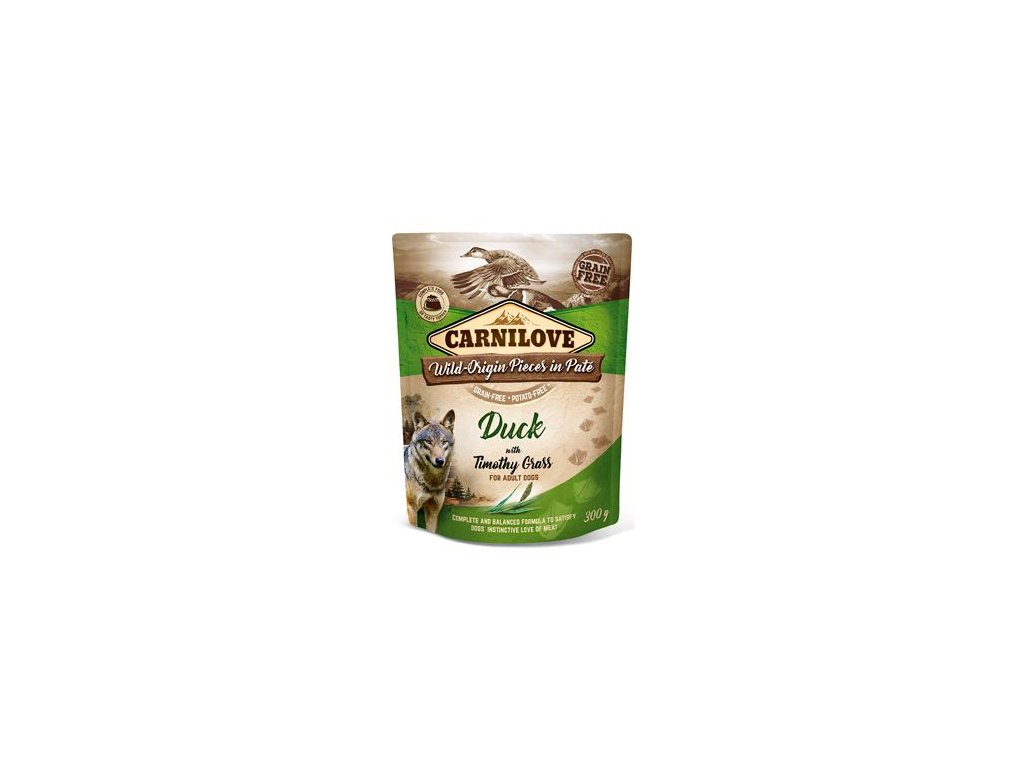 Carnilove Dog Pouch Paté Duck & Timothy Grass 300g