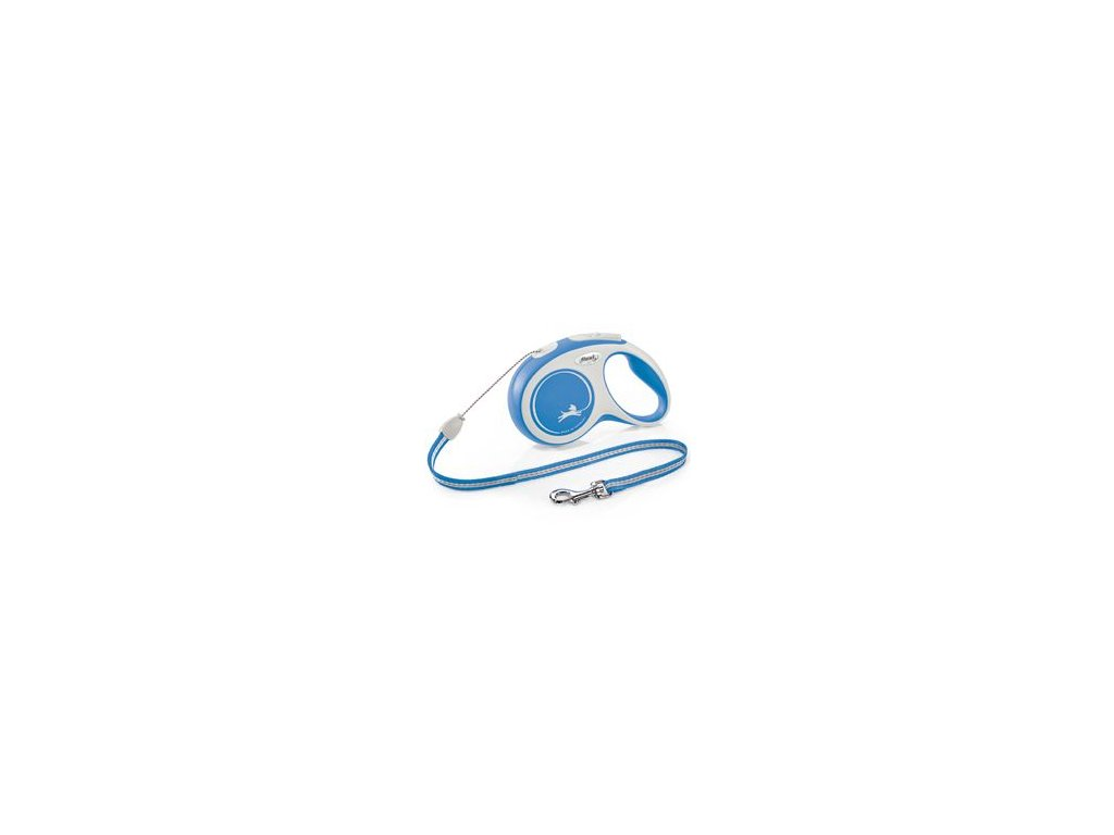 Vodítko FLEXI Comfort S lanko 5m/12kg modrá NEW
