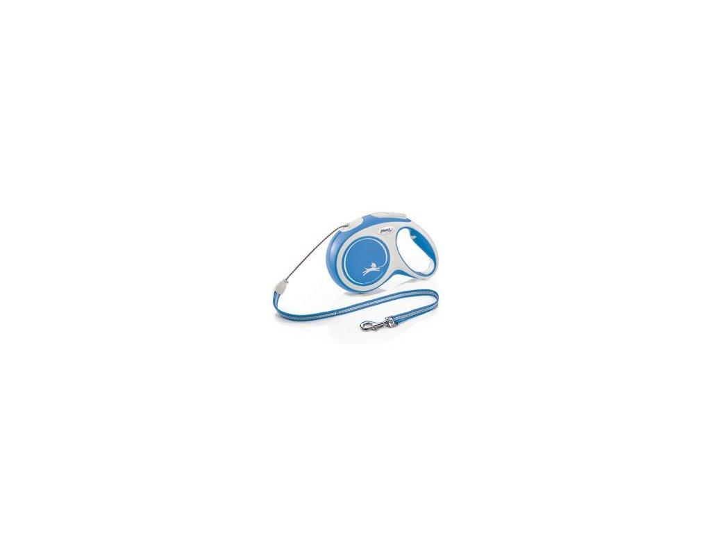 Vodítko FLEXI Comfort M lanko 8m/20kg modrá NEW