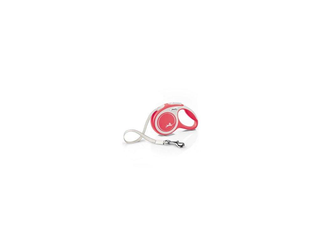 Vodítko FLEXI Comfort XS pásek 3m/12kg červená NEW