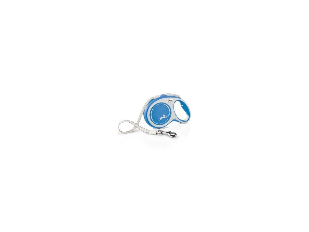 Vodítko FLEXI Comfort L pásek 8m/50kg modrá NEW