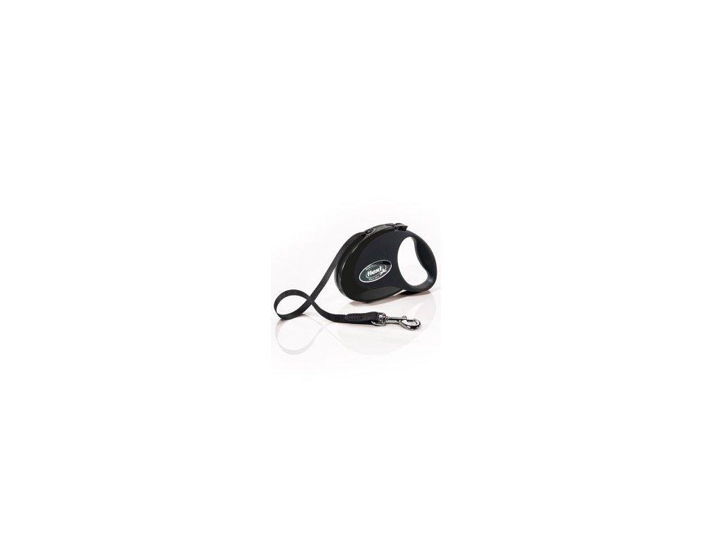 Vodítko FLEXI Style S pásek 3m/12kg černá NEW