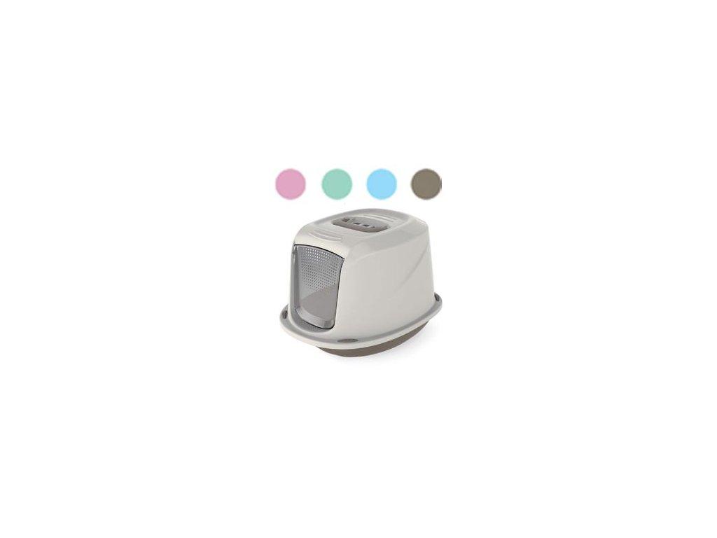 WC kočka Galaxy kryté s filt. 45x36x32cm šedo-růžová