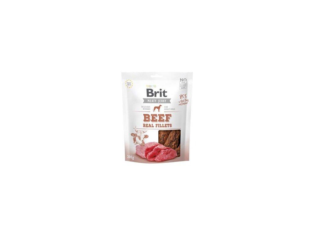 Brit Jerky Beef Fillets 200g