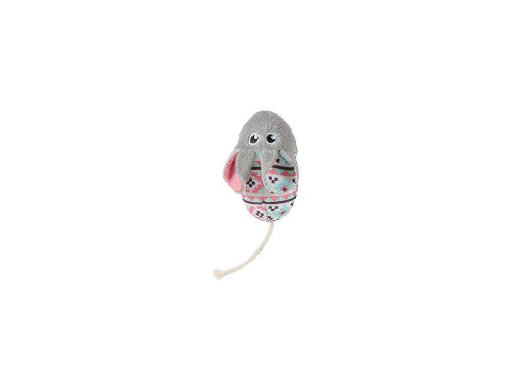 Hračka kočka KALI myš šedá Zolux