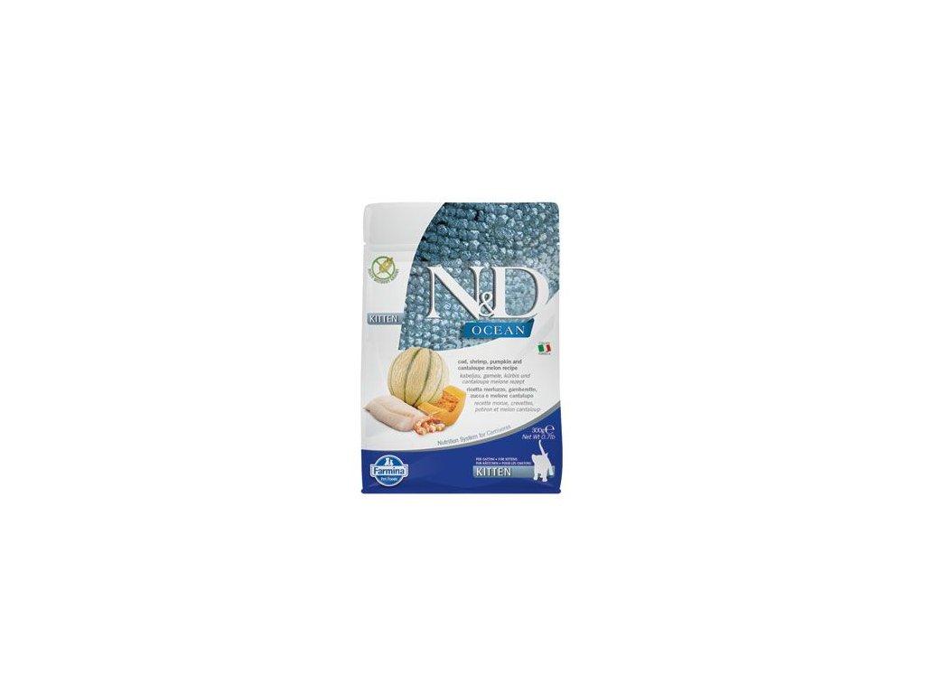 N&D OCEAN CAT Kitten Cod & Shrimp & Pumpkin&Melon 300g