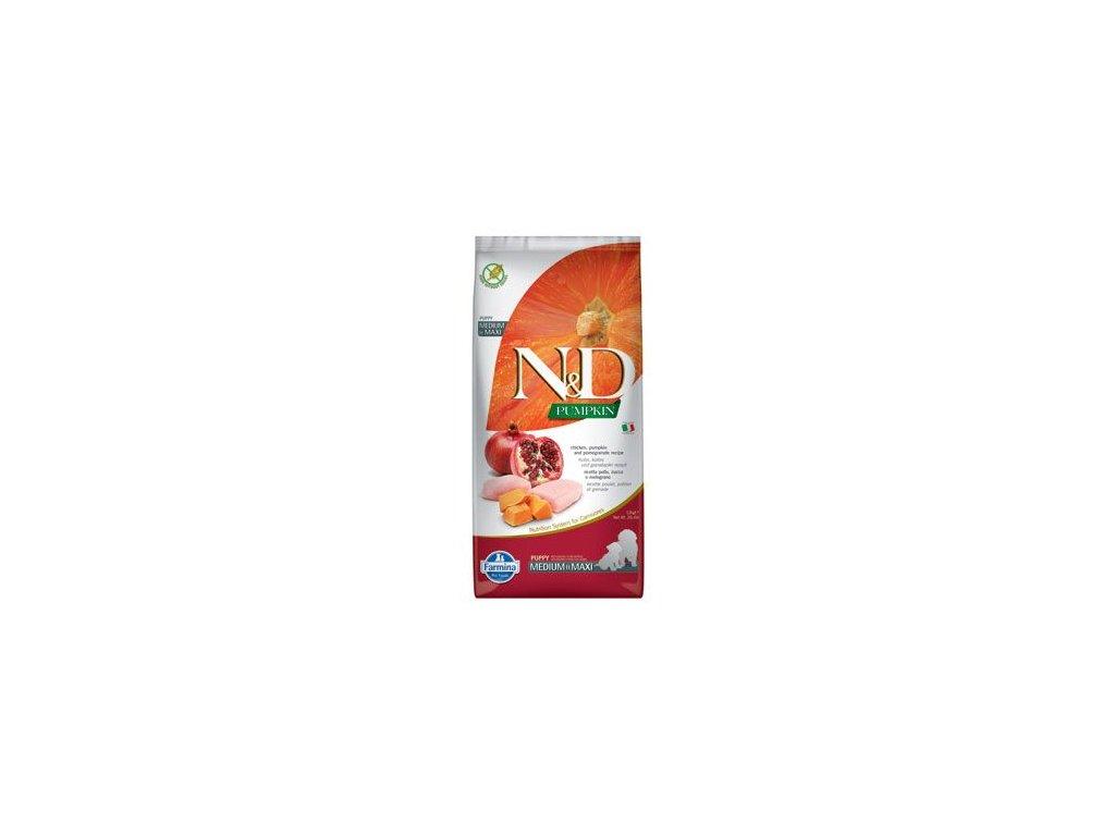 N&D Pumpkin DOG Puppy M/L Chicken & Pomegranate 12kg