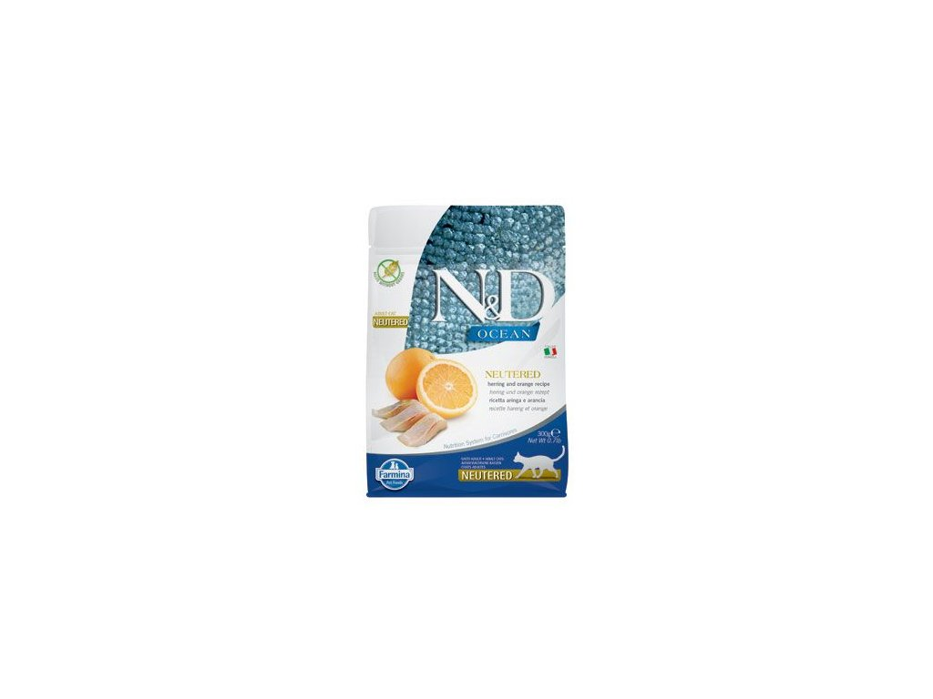 N&D OCEAN CAT NEUTERED Adult Herring & Orange 300g