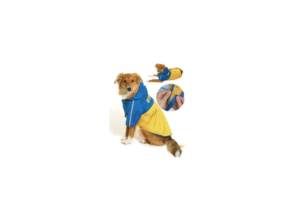 Obleček SPORT Žlutá/Modrá s kapucí 2V1 44cm KAR