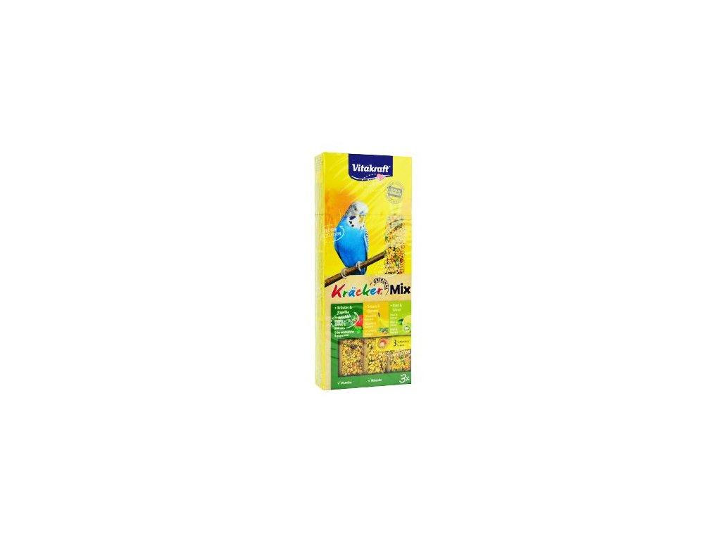 Vitakraft Bird Kräcker Andulka fig/sesam/kiwi tyč 3ks