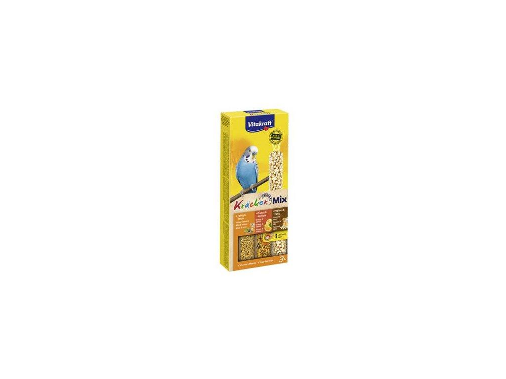 Vitakraft Bird Kräcker Andulka med/pom/popcorn tyč 3ks