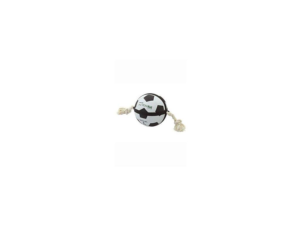 Hračka pes Fotbalový míč přetahovací 19cm KAR
