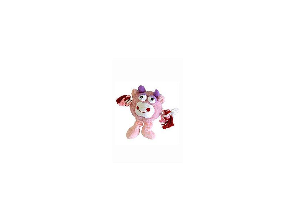 Hračka pes Monster Friend růžový plyš 21cm