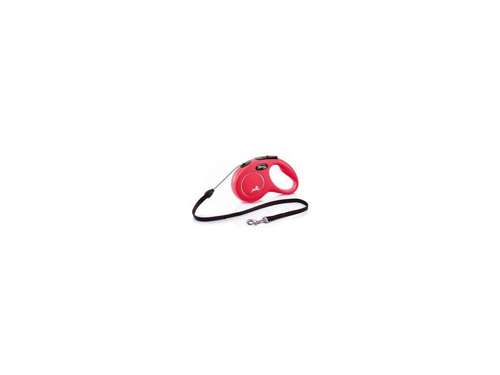 Vodítko FLEXI Classic NEW S lanko 5m/12kg červená