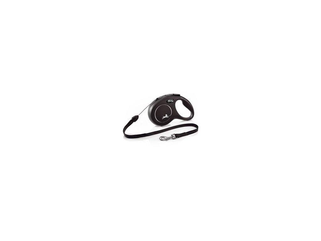 Vodítko FLEXI Classic NEW S lanko 8m/12kg černá