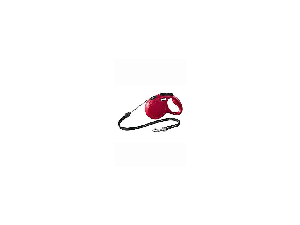Vodítko FLEXI Classic NEW M lanko 8m/20kg červená