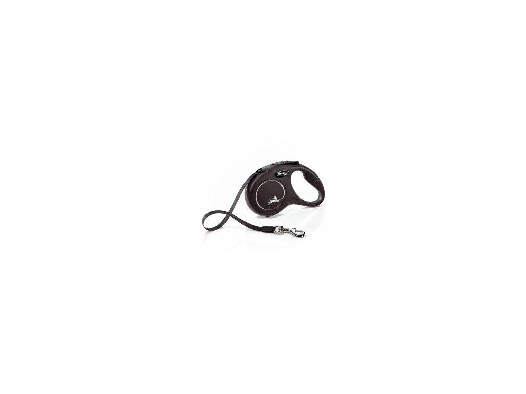 Vodítko FLEXI Classic NEW S pásek 5m/15kg černá