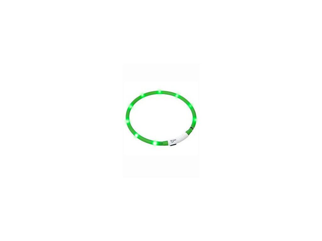 Obojek USB Visio Light 70cm zelený KAR