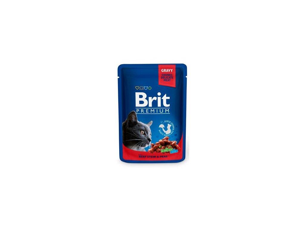 Brit Premium Cat kapsa with Beef Stew & Peas 100g