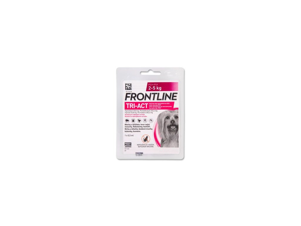 FRONTLINE TRI-ACT spot-on pro psy XS (2-5 kg)-1x0,5ml
