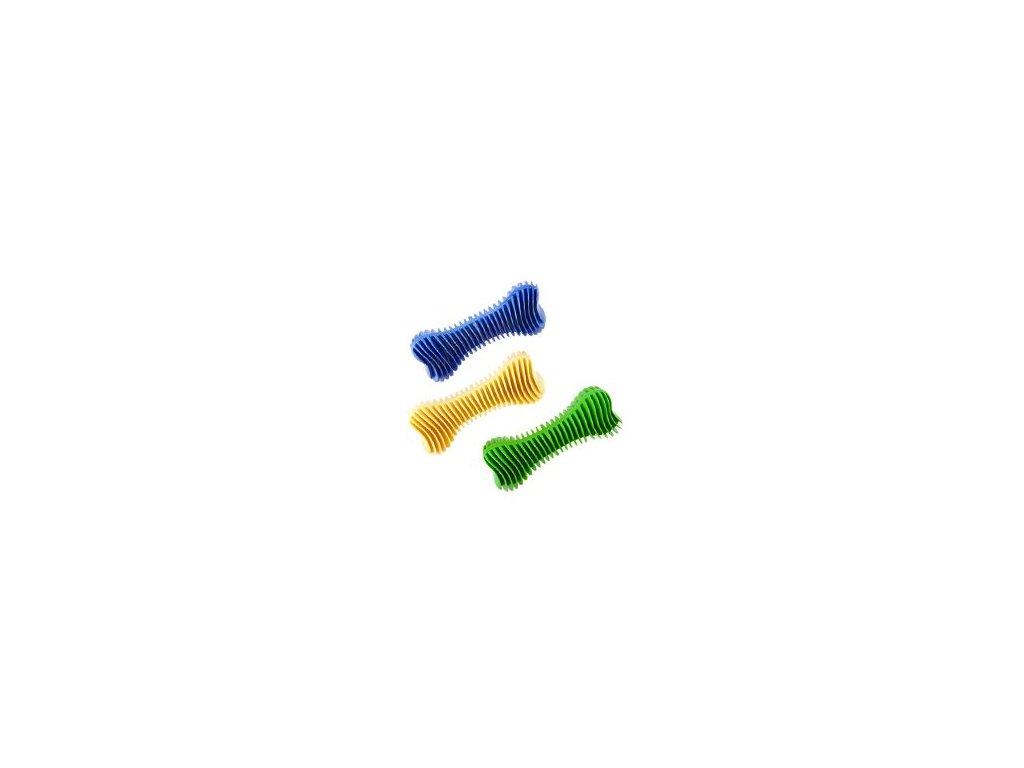 Hračka pes Kost Dentální žebrovaná plovací 14cm SP