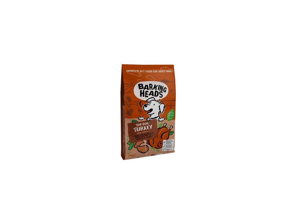 BARKING HEADS Top Dog Turkey 12kg+2kg ZDARMA