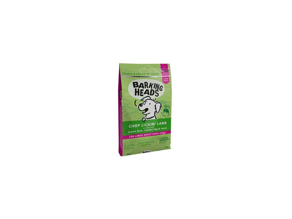 BARKING HEADS Chop Lickin' Lamb (Large Breed) 12kg+2kg ZDARMA