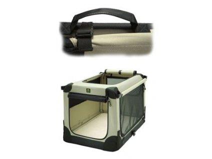 Přepravka MAELSON pro psy nylon Béžová S /62x41x41cm