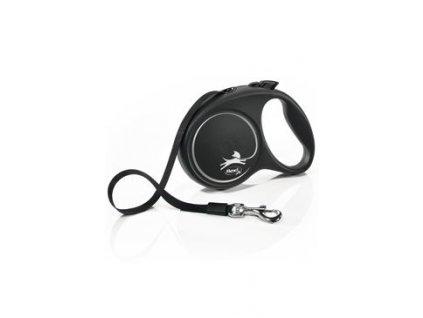 Vodítko FLEXI Black Design L pásek 5m/50kg stříbrnáNEW