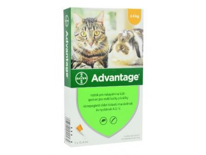 Advantage pro malé kočky a králíky 40mg 1x0,4ml