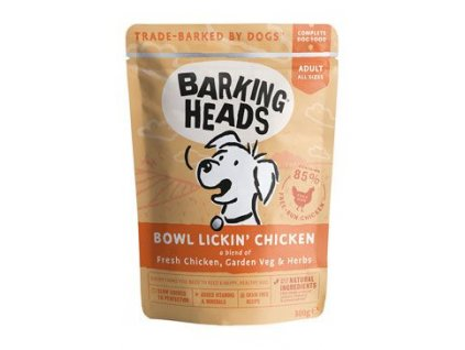 BARKING HEADS Bowl Lickin' Chicken kapsička 300g