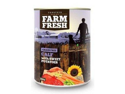 Farm Fresh Dog Calf with Sweet Potatoes konzerva 400g