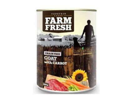 Farm Fresh Dog Goat with Carrot konzerva 400g