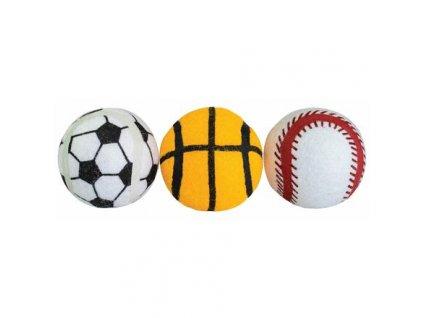 Balení-tenisový míč sportovní pískací 6,5 cm HIPHOP DOG (3 ks v bal.)