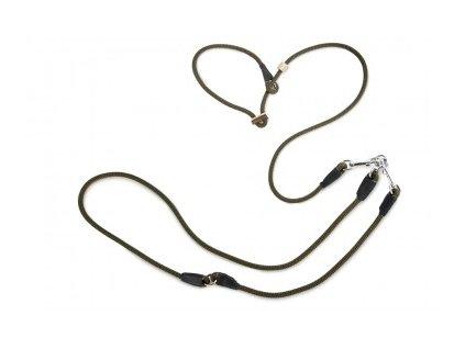 firedog hunting leash 8mm moxon with double hornstop khaki 35535