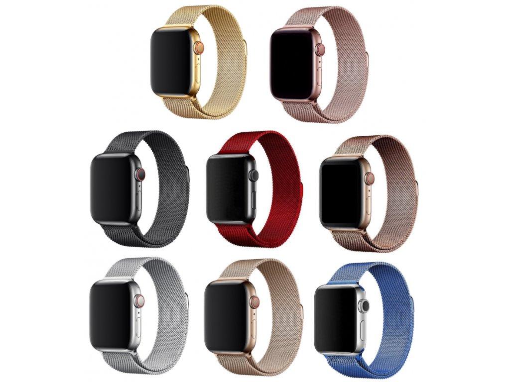 Milánský tah celokovový náhradní řemínek pro Apple Watch 42mm/44mm