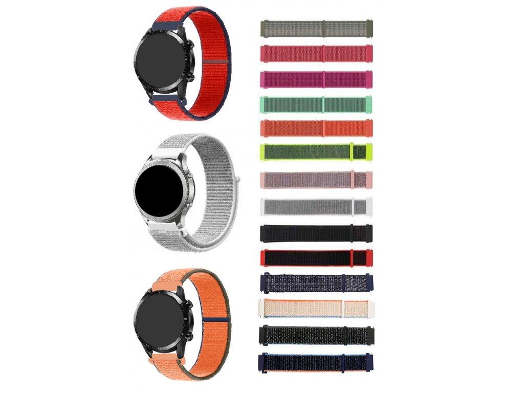 Nylonový náhradní řemínek pro chytré hodinky 20mm