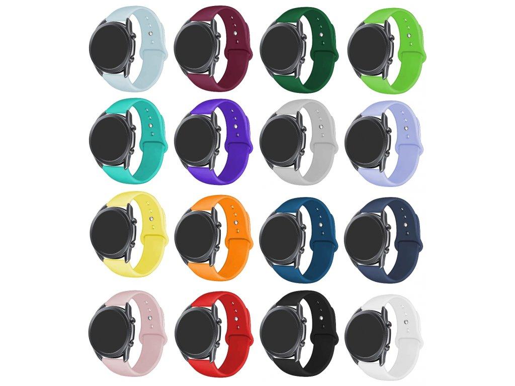 Základní silikonový náhradní řemínek pro chytré hodinky 20mm společné
