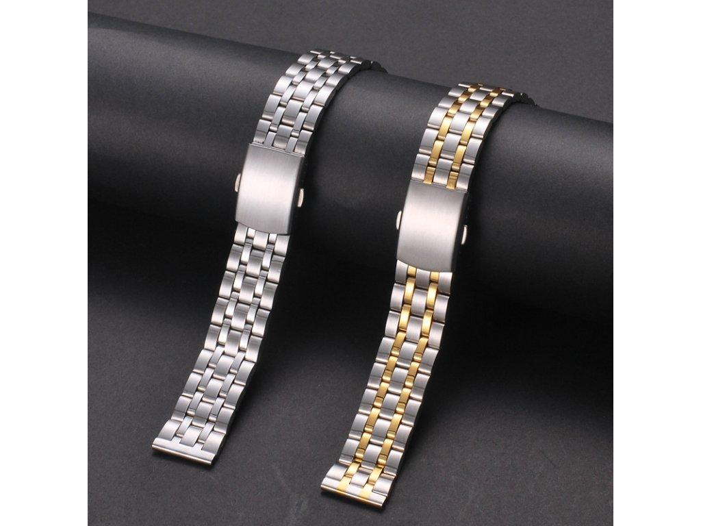 Kovový náhradní řemínek pro chytré hodinky 22mm